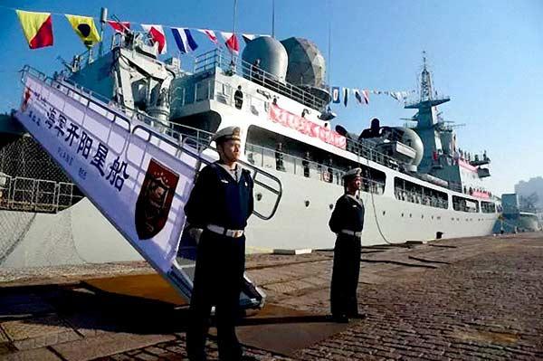 بهره برداری از  یک کشتی جدید جاسوسی الکترونیک در نیروی دریایی چین