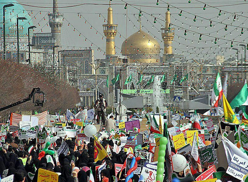 Image result for راهپیمایی 22بهمن مشهد