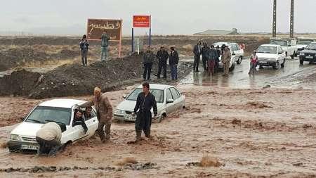 بسته شدن برخی از محورهای خراسان رضوی براثر بارش شدید باران و وقوع سیلاب