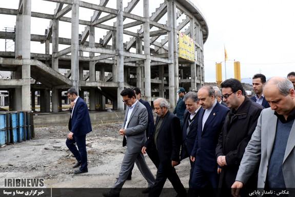 بازدید وزیر ورزش و جوانان از پروژه های ورزشی مازندران