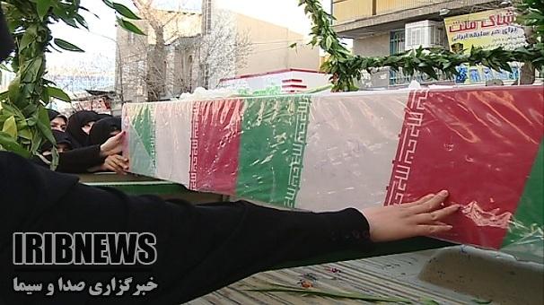 تشییع 2شهید گمنام در زنجان
