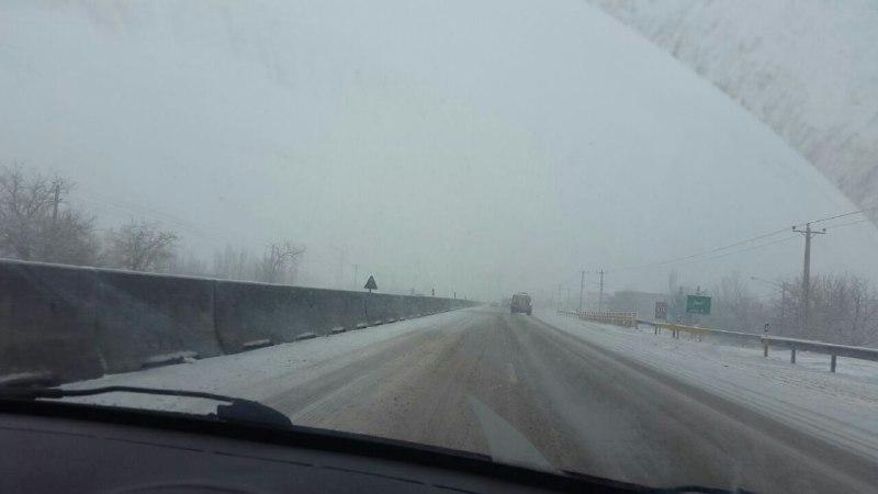 برف و باران در محورهای 6 استان