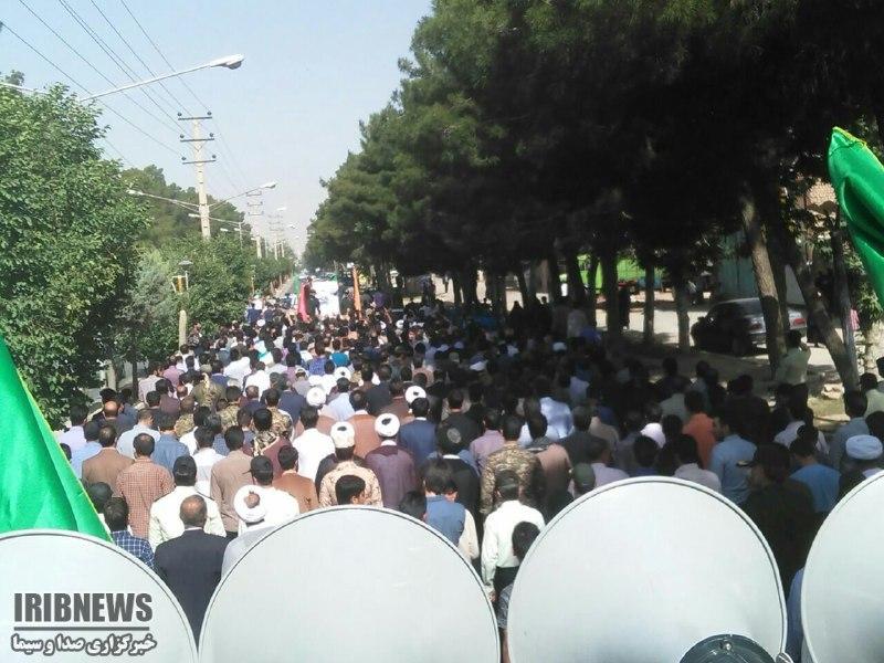 تشییع پیکر نخستین شهید مدافع حرم در کوهدشت