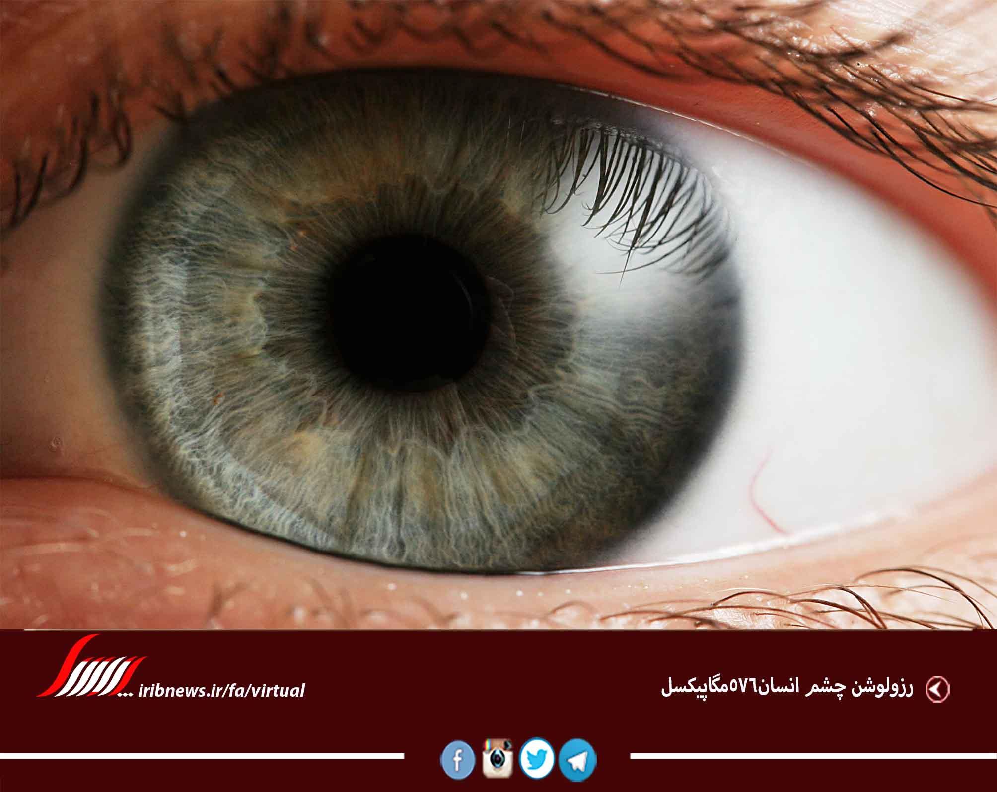 رزولوشن چشم انسان576مگاپیکسل