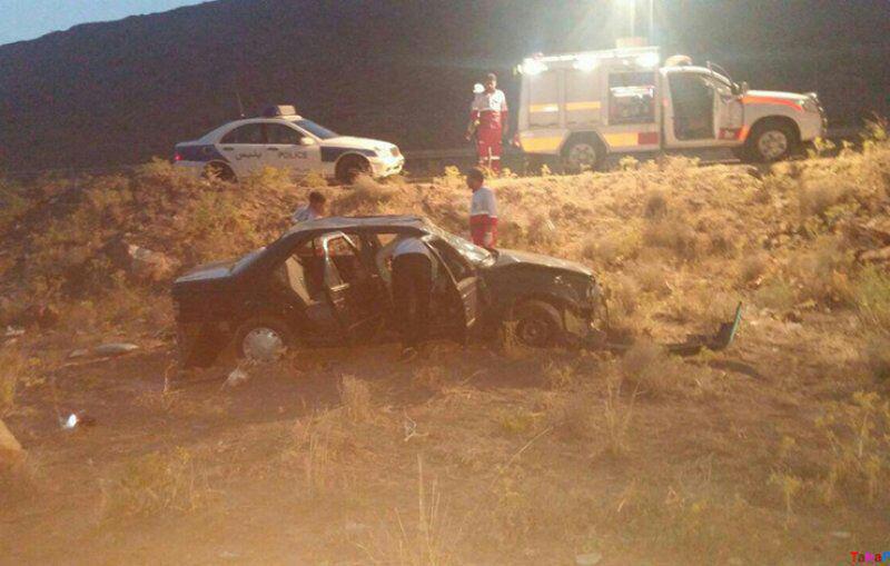 یک کشته و دو مجروح در واژگونی خودرو در محور کاشمر به نیشابور