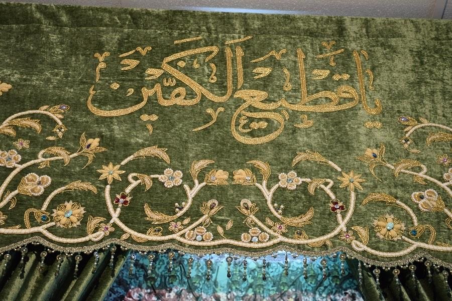 دوخت 9 پرده برای درهای حرم حضرت عباس(ع)
