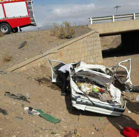 7 کشته و مجروح بر اثر تصادف در محورهای استان