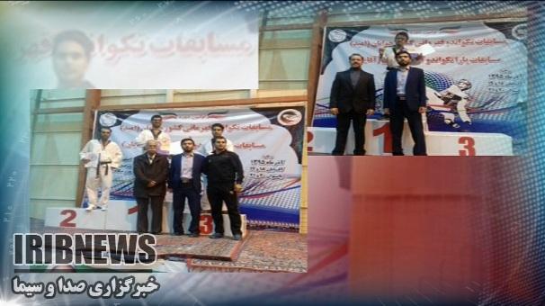 درخشش ورزشکاران زنجانی درمسابقات پاراتکواندو قهرمانی کشور