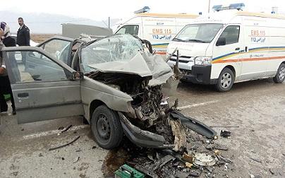 دو کشته بر اثر تصادف در جاده نیشابور- فیروزه