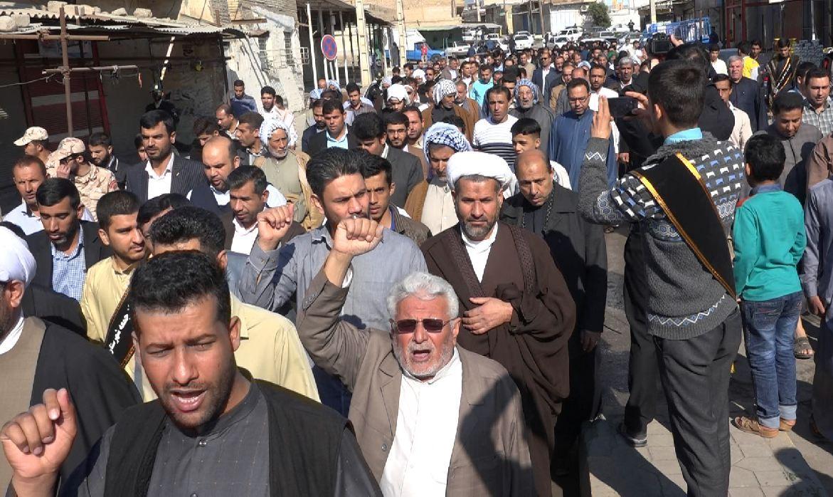 حماسهی مردم ولایتمدار حمیدیه در راهیپمایی شکوه وحدت +عکس