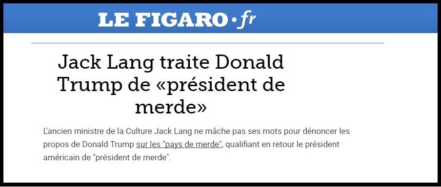 لوفیگارو؛ دونالد ترامپ «رئیسجمهور کثافت»