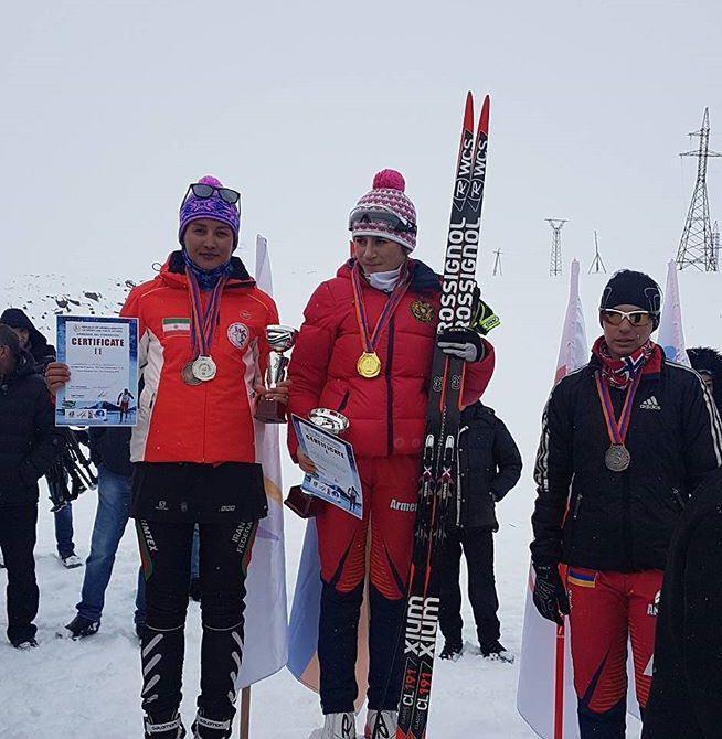 رقابتهای اسکی صحرانوردی ارمنستان؛ بیرامی با هر به مدال نقره رسید