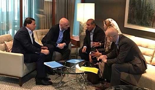 دیدار مسئولان فدراسیون فوتبال ایران با رئیس فیفا و سران هلند و ایتالیا
