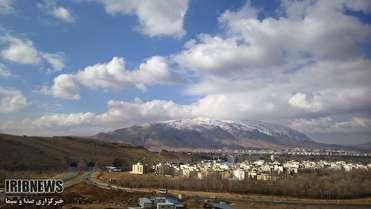 آسمان فارس قسمتی ابری همراه با افزایش ابر