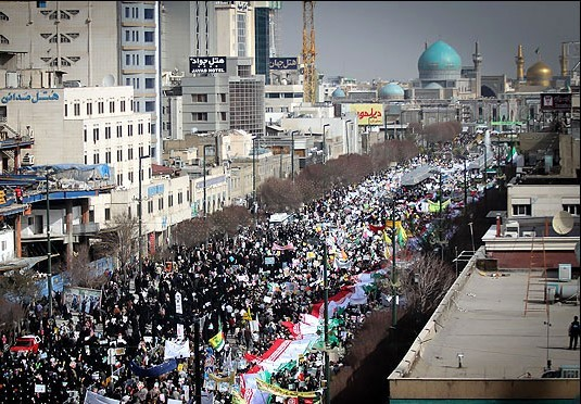 برگزاری راهپیمایی 22بهمن در صد شهر خراسان رضوی