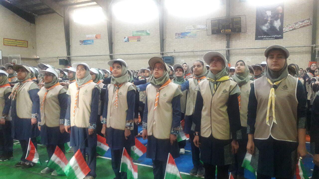 اجرای سرود دانش آموزی هزار و 357 نفری در شیراز