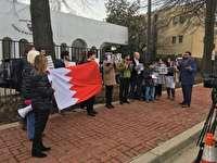 تجمع فعالان حقوقي در مقابل سفارت بحرين در لندن