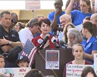 تظاهرات مخالفان قانون حمل سلاح در فلوريدا