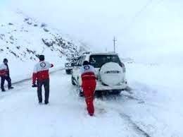 امدادرسانی به 872 مسافر گرفتار در برف