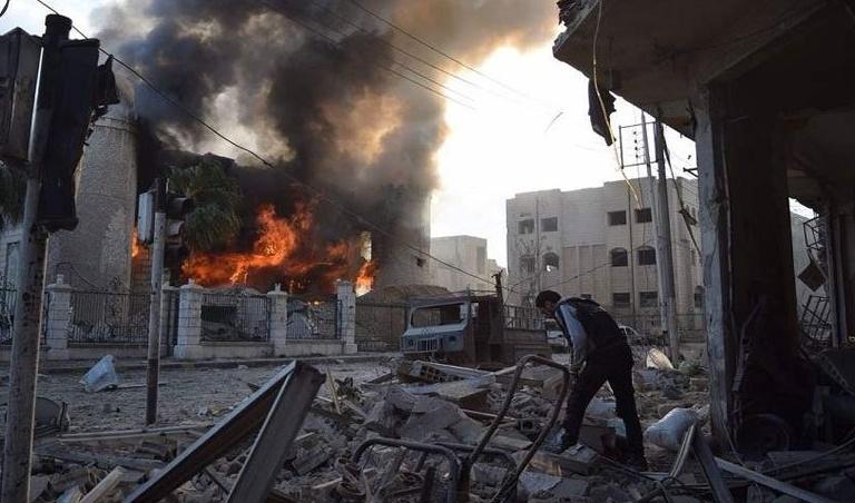 شهادت دانش آموزان و معلمان سوری در دمشق
