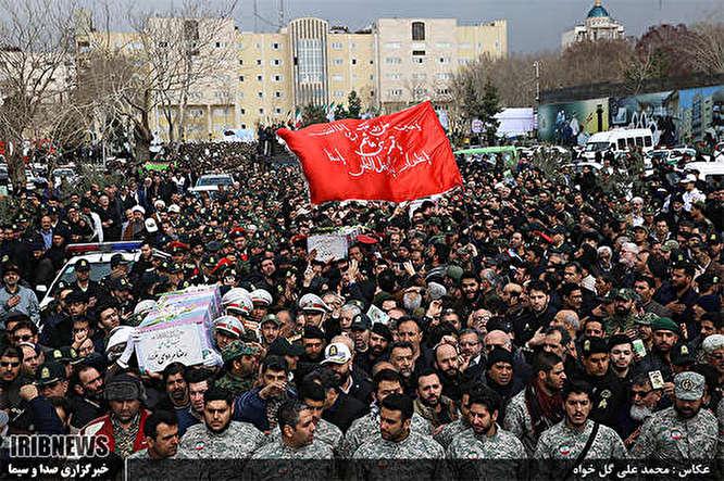 تشییع پیکرمطهر 3 شهید نیروی انتظامی
