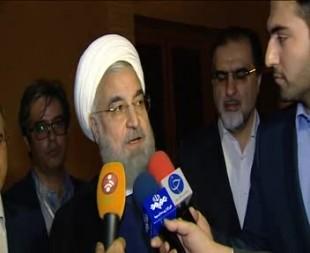 روحانی: نگاه ما برای حل مشکلات به داخل است +فیلم