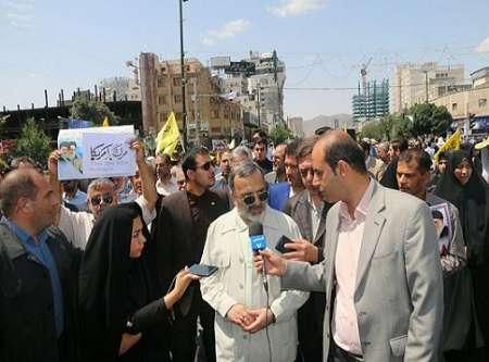 حضور پرشور مردم در راهپیمایی روز قدس، نشان دهنده اعتقاد مستحکم مردم به ارزشهای انقلاب اسلامی