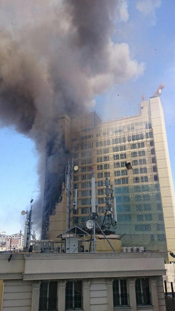 مهار کامل آتش سوزی هتل روتانا در مشهد