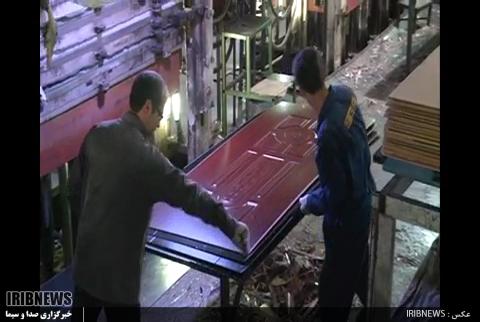 گزارش//فعالیت بزرگترین کارخانه تولید رویه درب ملامینه منطقه در اردبیل