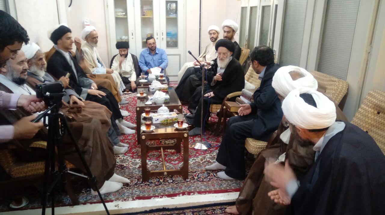 دیدارمدیران شبکه بین المللی اجتهاد با ایت الله شبیری زنجانی