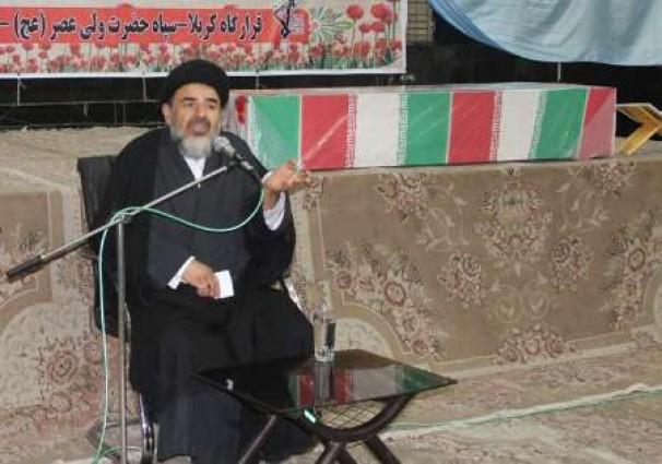 مراسم وداع با پیکر مطهر شهیدان سردار علی پور و علی بهار در اهواز