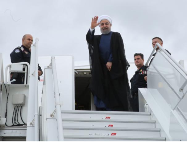 رئیس جمهور نیویورک را به مقصد تهران ترک کرد