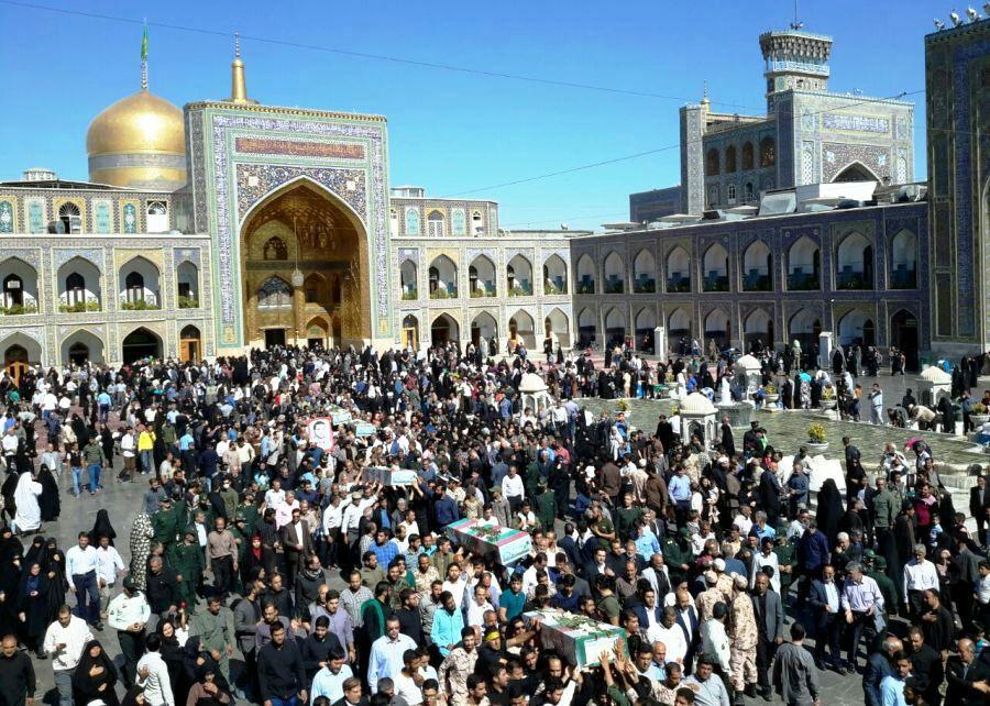 تشییع پیکر پاک 5 شهید در مشهد