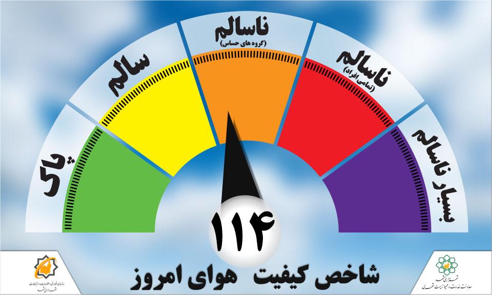 هوای ناسالم همچنان مهمان مشهد