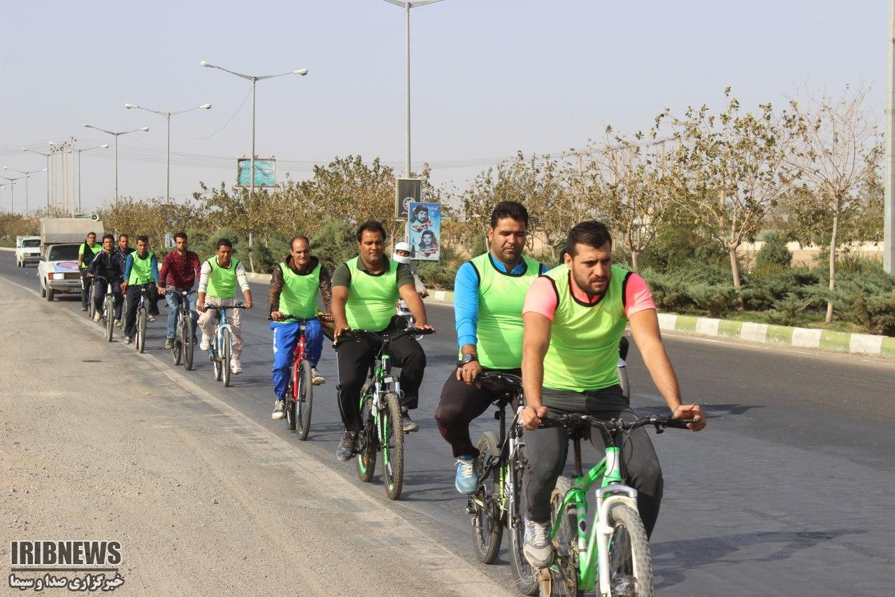 اعزام 3 کاروان دوچرخه سوار بردسکن به مشهد مقدس