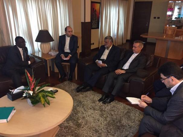دیدار وزیر جهاد کشاورزی ایران با همتای غنایی خود