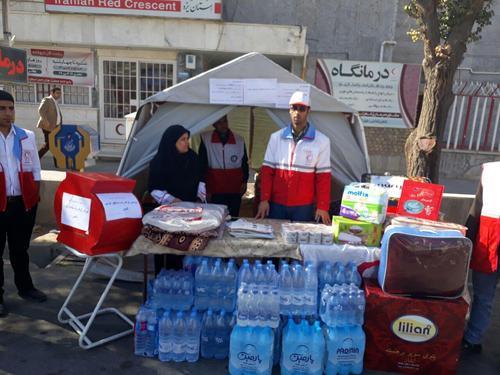 برپایی چادرهای امدادی هلالاحمر در استان +تصاویر