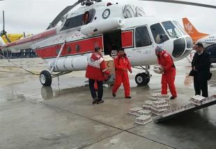 ارسال 10 بالگرد مواد غذایی به روستاهای حادثهدیده