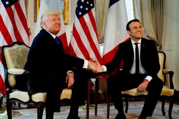 رایزنی ترامپ و مکرون علیه ایران و حزب الله