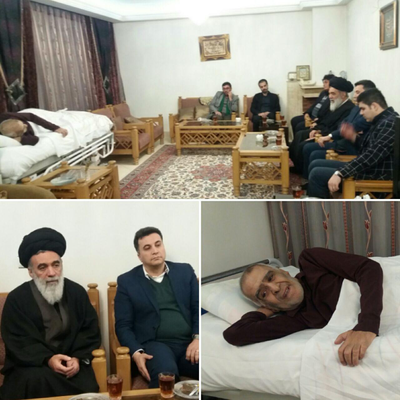 دیدار نماینده مردم خراسان در مجلس خبرگان رهبری با جانباز 70 درصد در مشهد