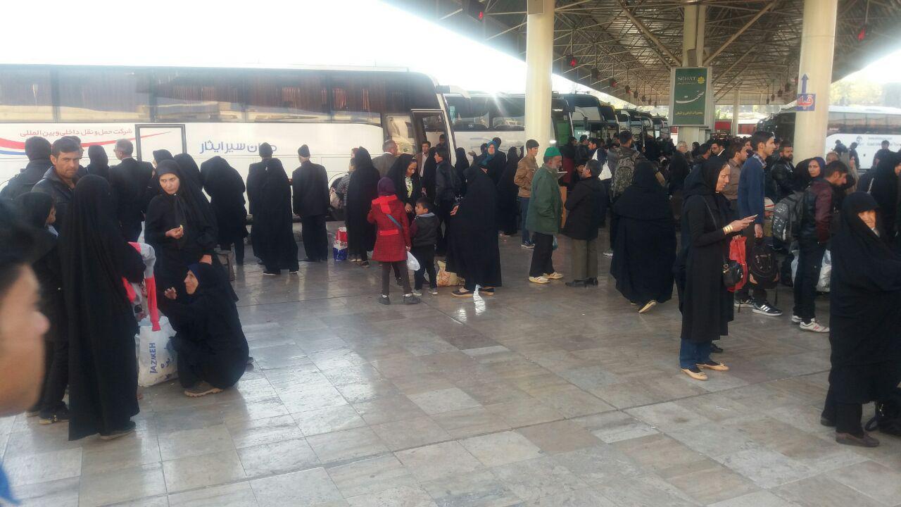 خدمات دهی ناوگان حمل و نقل عمومی به زائران رضوی برای بازگشت به شهرهایشان
