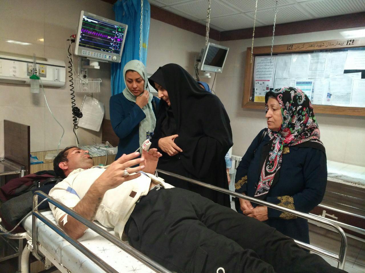 بستری 4 مصدوم در بیمارستانهای کرمان