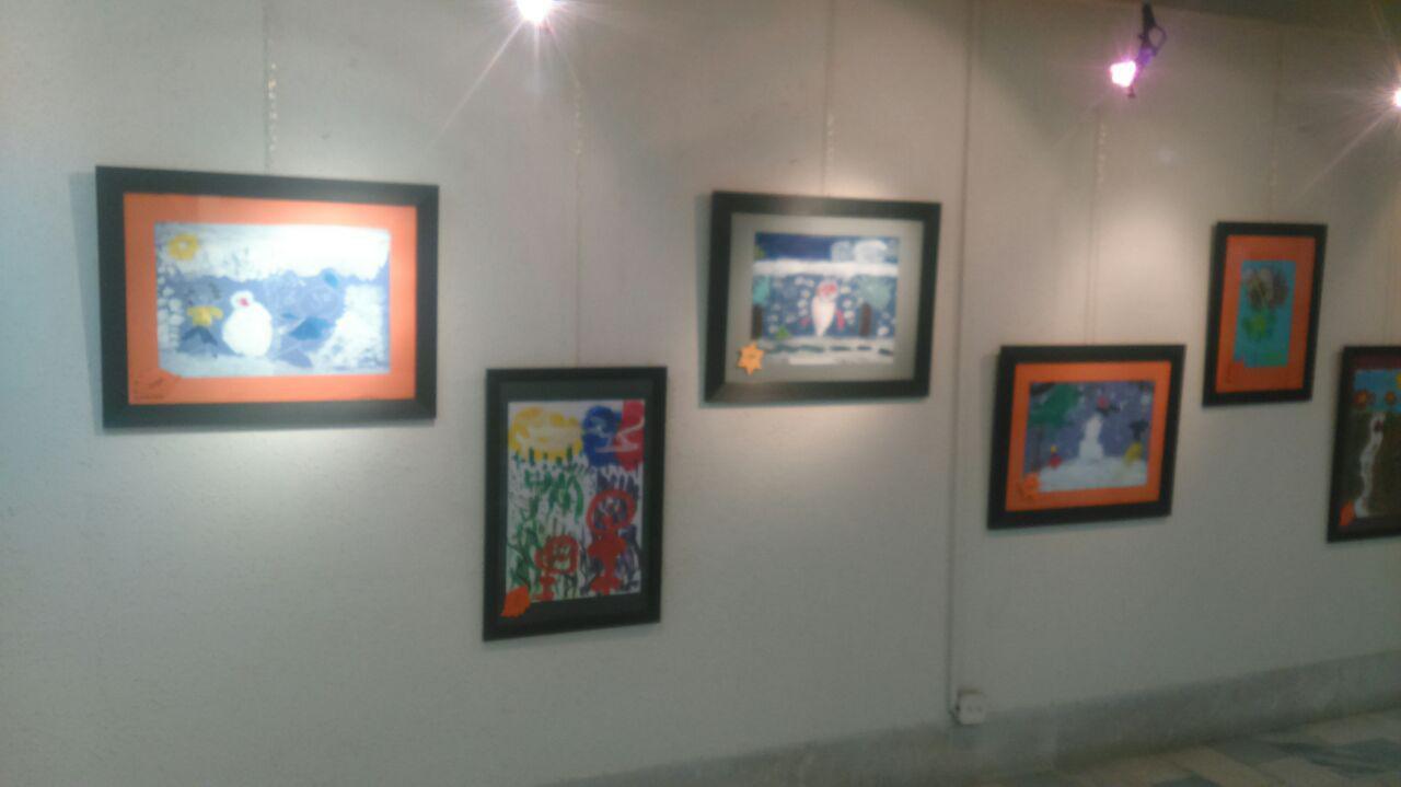 نمایشگاه نقاشی معلولان هنرمند آسایشگاه فیاض بخش مشهد