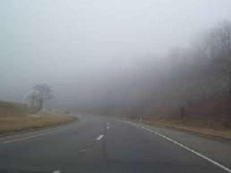 مه و کاهش دید در جاده های خراسان رضوی