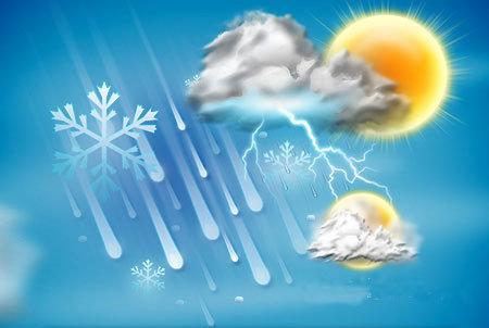 امروز دمای هوا در شهرهای دارای ایستگاه هواشناسی