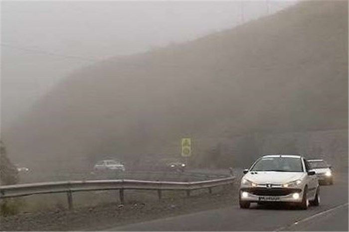 لغزندگی و مه آلود بودن محورهای کوهستانی خراسان رضوی