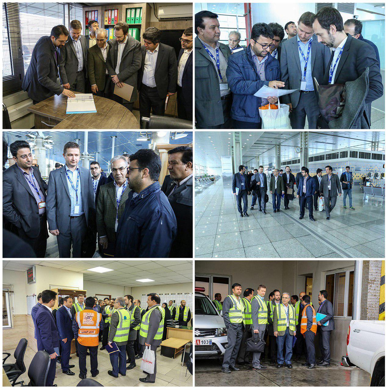 بازدید نمایندگان انجمن بین المللی حمل و نقل هوایی از فرودگاه امام