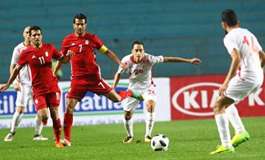 برتری تونس مقابل ایران با یک گل به خودی