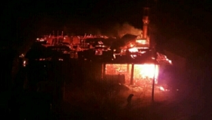 آتش سوزی مسجدی در سیاهکل