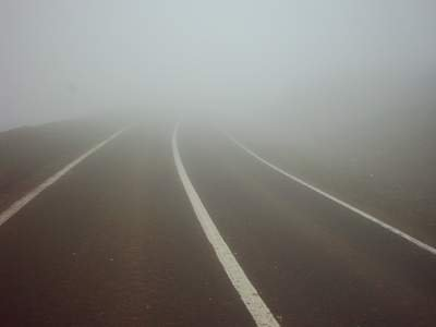 مهگرفتگی شدید در جاده دشتارژن به کازرون